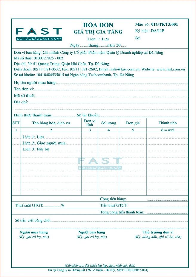 Thay đổi kiểu mẫu hóa đơn và những điểm cần lưu ý
