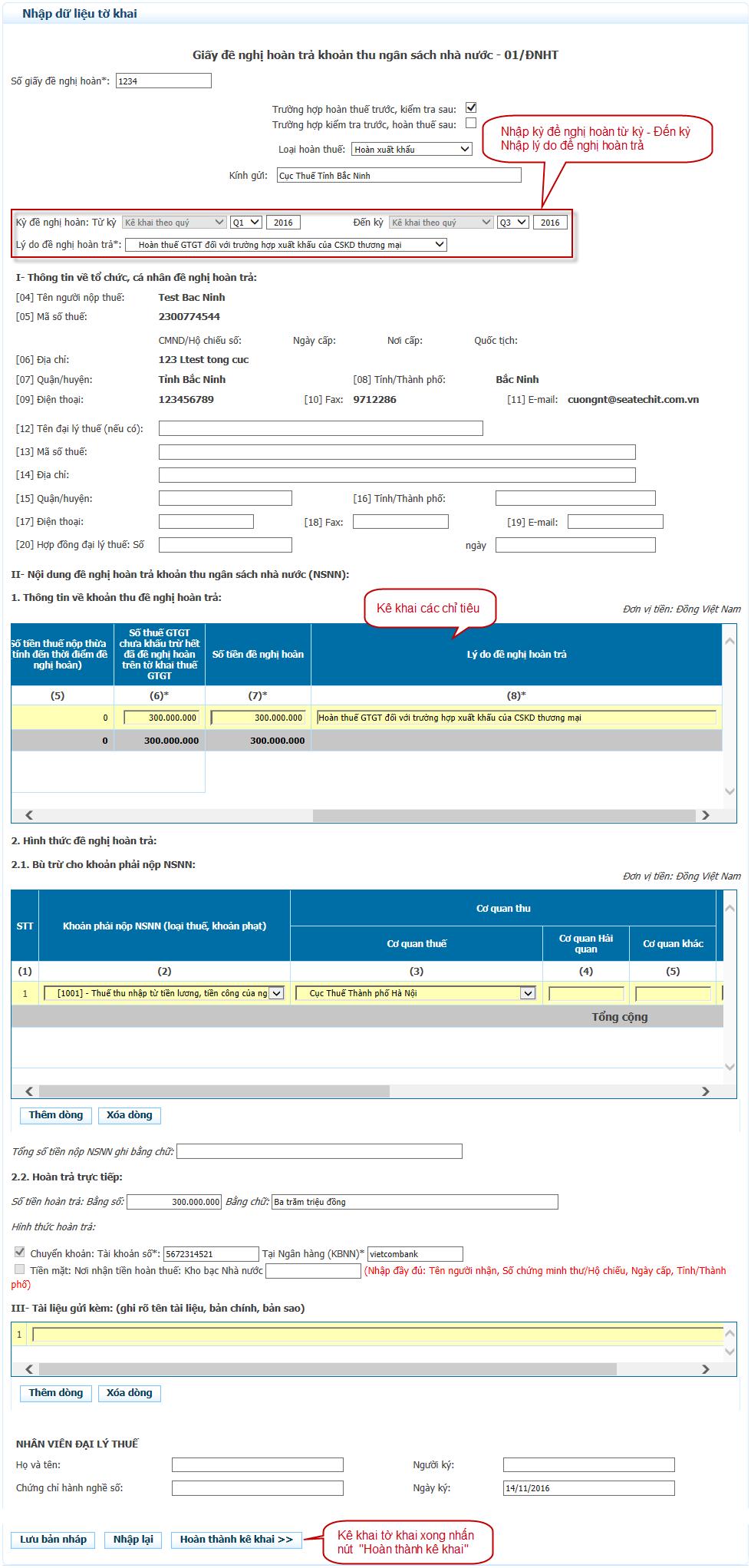 Đăng ký hoàn thuế qua mang mới nhất - hinh 3
